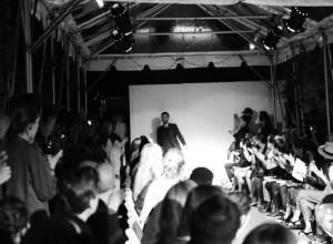 Svenska designern Lars Andersson under Fashion Week.