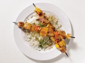 Fläsk och Annanas Kebab