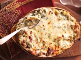 Krämig Kronärtskocka Lasagne