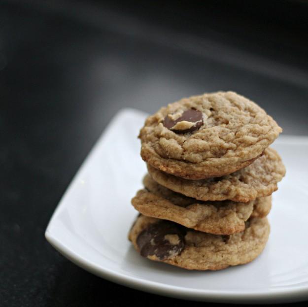 jordnötssmör kakor med choklad