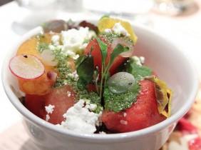 Tomat- och vattenmelonsallad